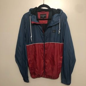 Billabong windbreaker jacket blue and red large